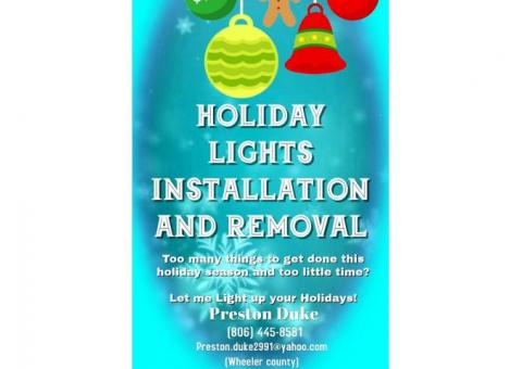 Holiday lights installation and removal!