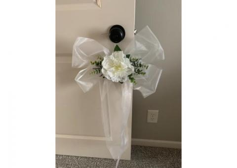 Wedding decorations - Pew bows & pew hooks